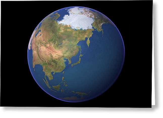 Earth Greeting Card by Planetary Visions Ltd/science Photo Library