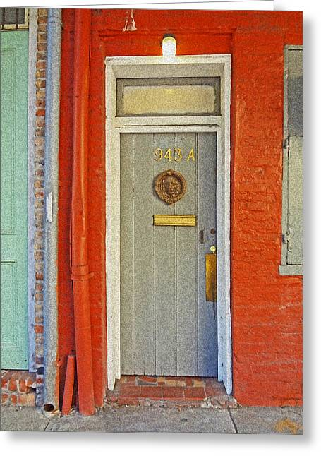 New Orleans Door Greeting Card