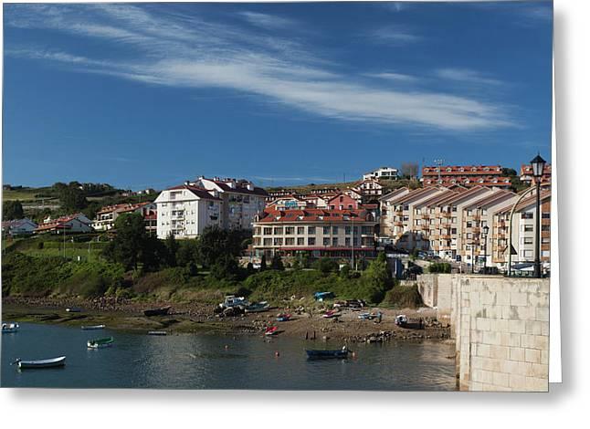 Spain, Cantabria Region, Cantabria Greeting Card by Walter Bibikow