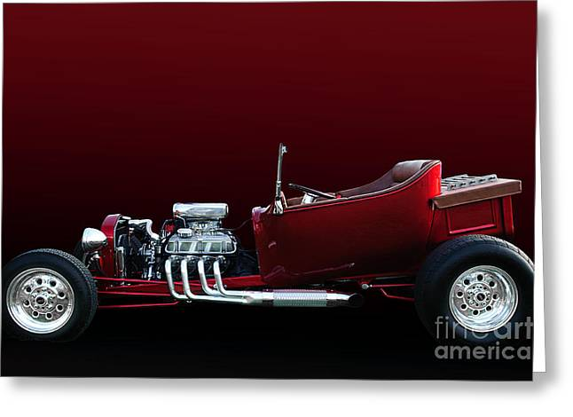 28 T-bucket Pickup Truck Greeting Card by Jim  Hatch
