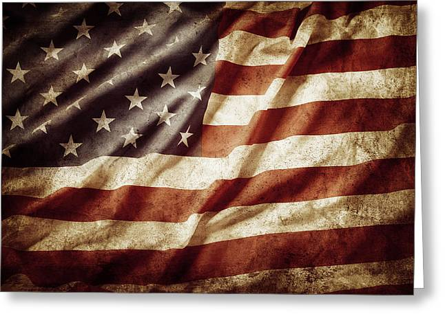 American Flag 53 Greeting Card