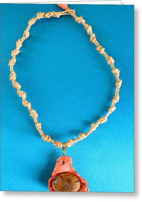 Aphrodite Pandemos Necklace Greeting Card by Augusta Stylianou