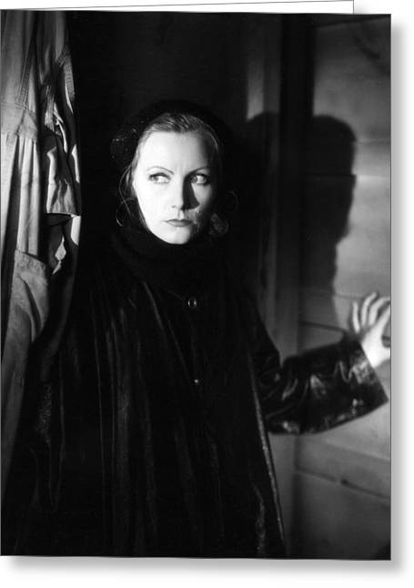 Greta Garbo Greeting Card by Silver Screen