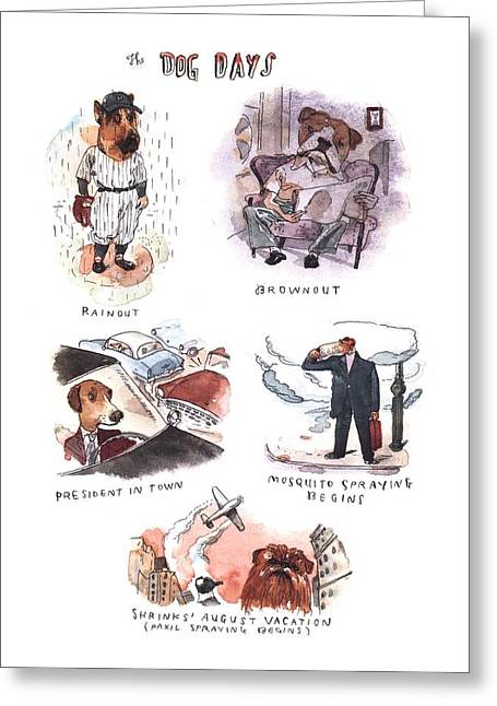 New Yorker August 14th, 2000 Greeting Card by Barry Blitt