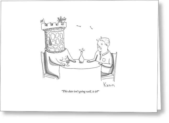 This Date Isn't Going Well Greeting Card by Zachary Kanin