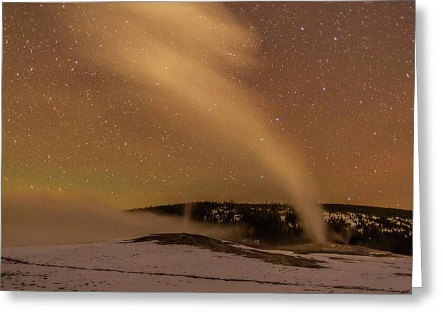 Usa, Wyoming, Yellowstone National Park Greeting Card by Jaynes Gallery
