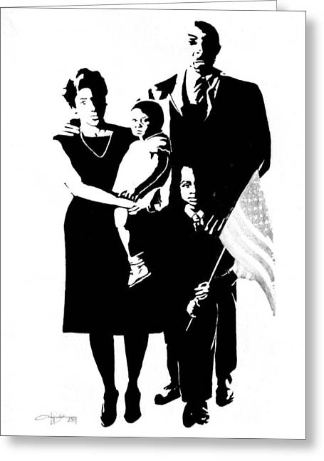 2k Black American Family Greeting Card