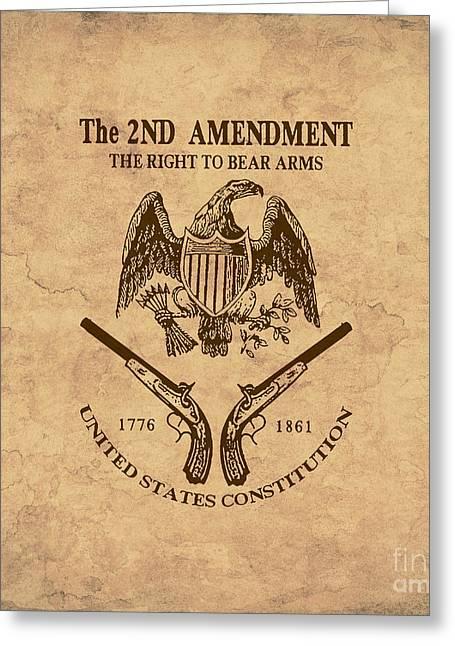 2nd Amendment One Greeting Card