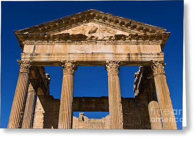 2nd Century Roman Ruins, Tunisia Greeting Card by Bill Bachmann