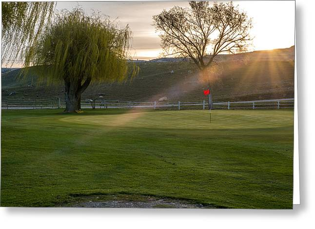 2nd Green Morning Light Greeting Card