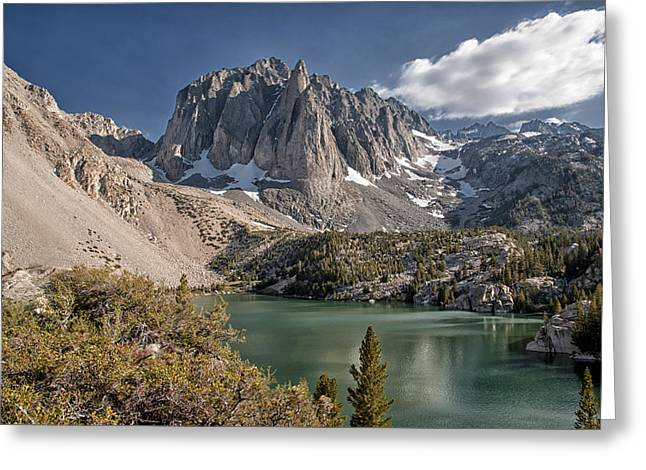 2nd Lake And Temple Crag Greeting Card