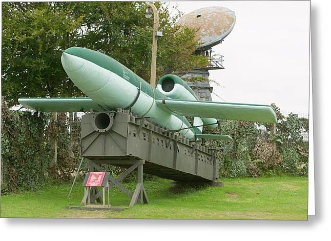 2nd World War Flying Bomb Greeting Card by Ashley Cooper