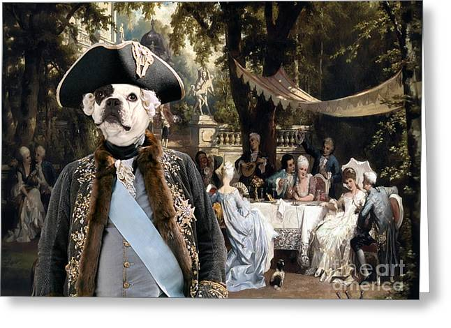 French Bulldog Art Canvas Print  Greeting Card