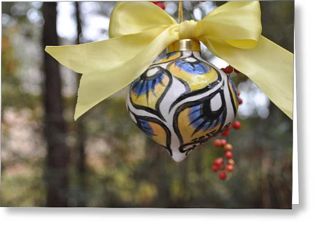 Majolica Maiolica Ornament Greeting Card