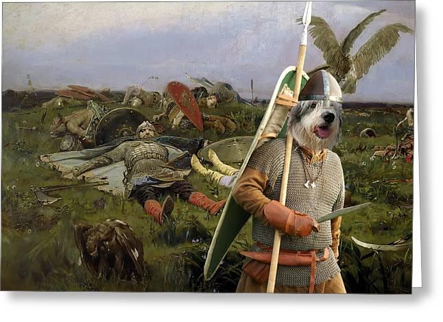 Romanian Mioritic Shepherd Dog - Ciobanesc Mioritic Art Canvas Print Greeting Card by Sandra Sij