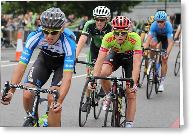 Tour Of Britain 2013 Cycling London Event Greeting Card