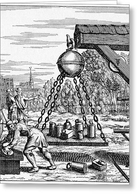17th Century Vacuum Experiment Greeting Card by Cci Archives