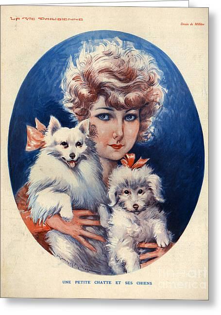 1920s France La Vie Parisienne Greeting Card