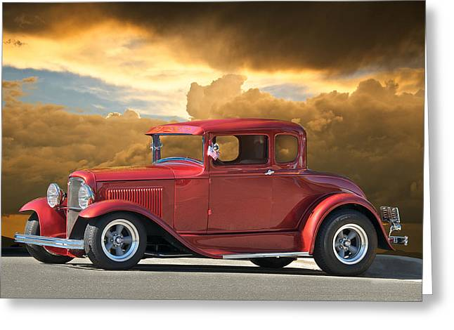 1931 Ford Model A Coupe Greeting Card by Dave Koontz