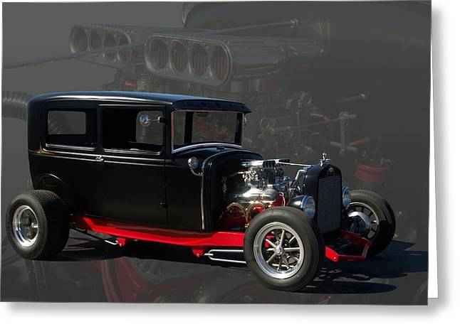 1931 Ford Model A Sedan Hot Rod Greeting Card by Tim McCullough