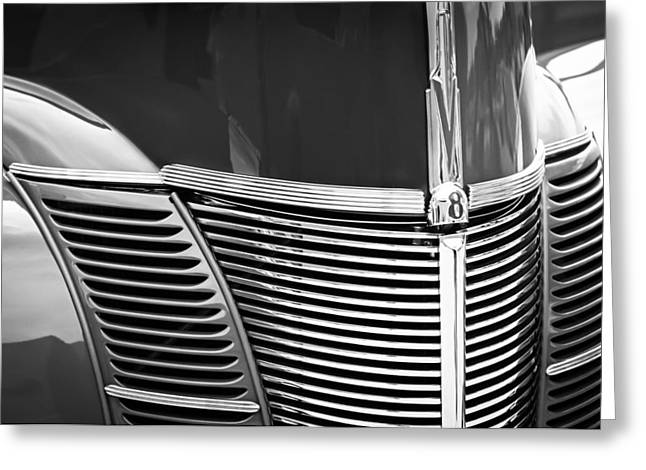 1940 Ford Deluxe Coupe Grille Greeting Card