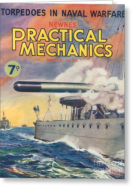 1940s Uk Practical Mechanics Magazine Greeting Card by The Advertising Archives
