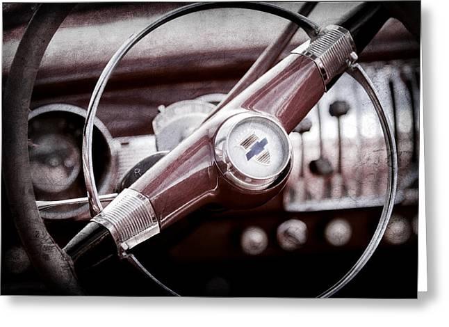 1951 Chevrolet Convertible Steering Wheel Greeting Card