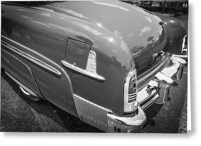 1951 Mercury Convertible Painted Bw  Greeting Card by Rich Franco