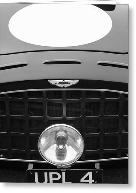 1952 Aston Martin Db3 Sports Hood Emblem Greeting Card by Jill Reger