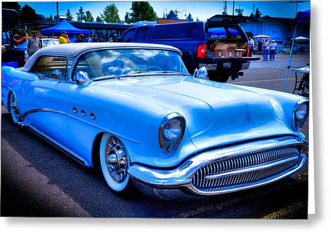 1954 Buick Century Convertible Greeting Card by David Patterson