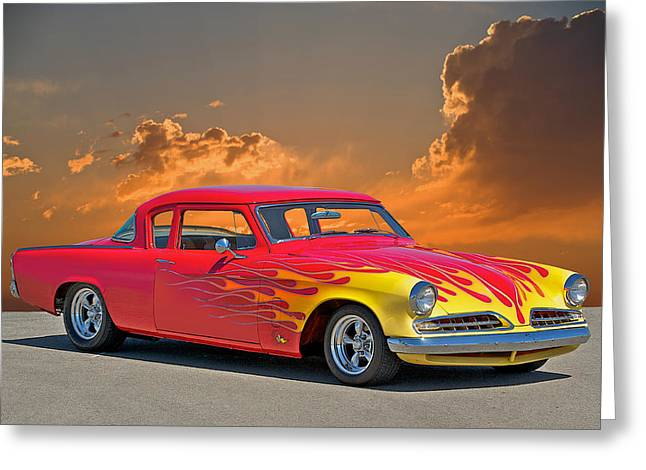 1954 Studebaker Custom Greeting Card by Dave Koontz