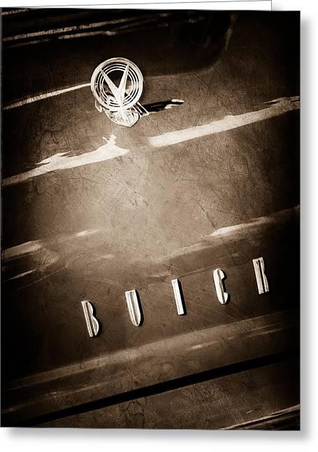 1955 Buick Roadmaster Hood Ornament - Emblem Greeting Card by Jill Reger