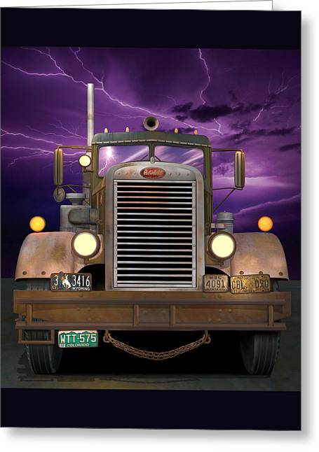 1955 Peterbilt Greeting Card