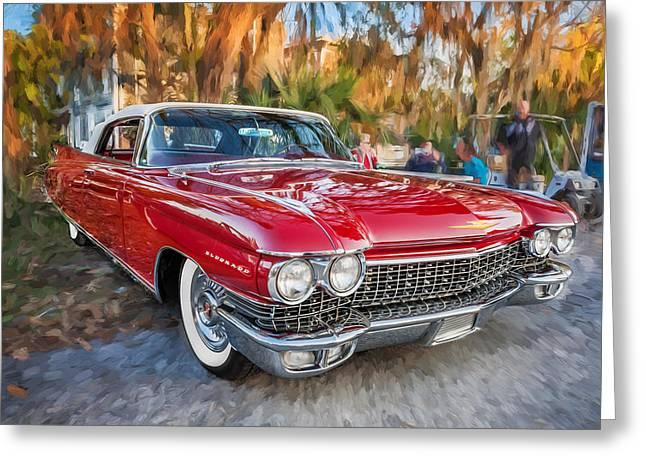 1960 Cadillac Eldorado Biarritz Convertible Painted  Greeting Card by Rich Franco