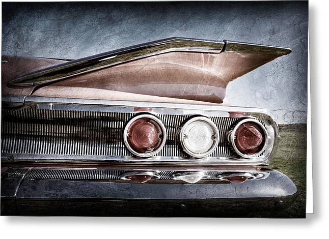 1960 Chevrolet Impala Resto Rod Taillight Greeting Card by Jill Reger