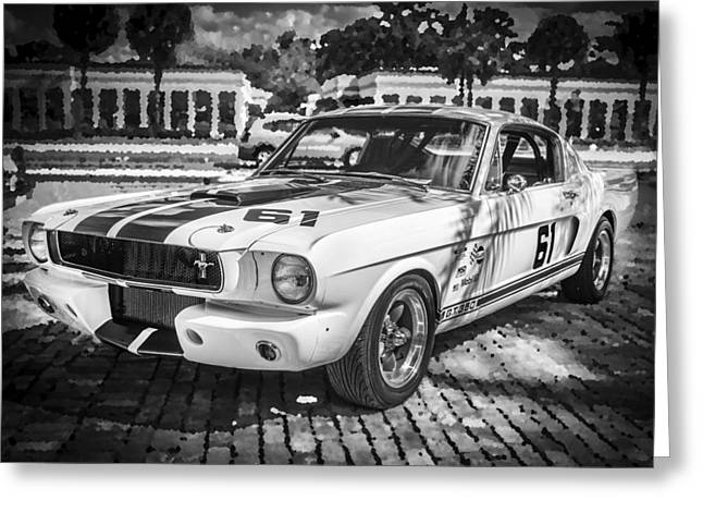 1965 Ford Shelby Mustang Bw Greeting Card