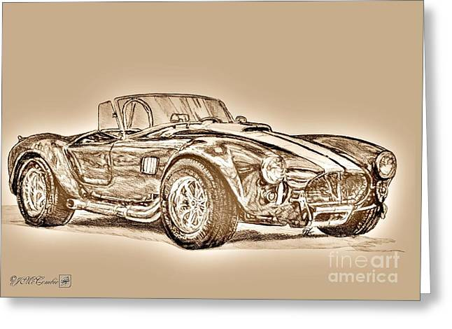 1965 Shelby Ac Cobra Greeting Card by J McCombie