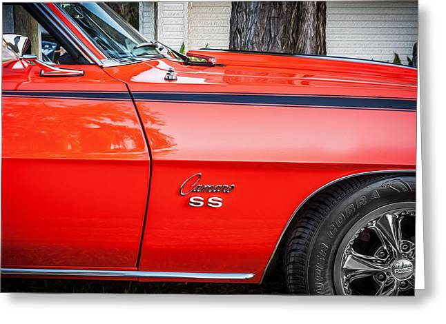 1969 Chevy Camaro Ss 396 Painted Greeting Card