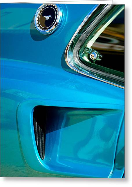 1969 Ford Mustang Mach 1 Side Emblem Greeting Card