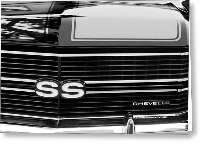 1970 Chevrolet Chevelle Ss Grille Emblem Greeting Card by Jill Reger