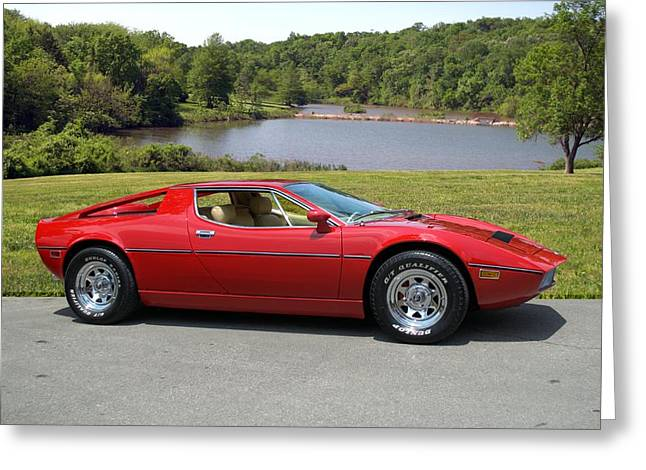 Greeting Card featuring the photograph 1975 Maserati Merak by Tim McCullough