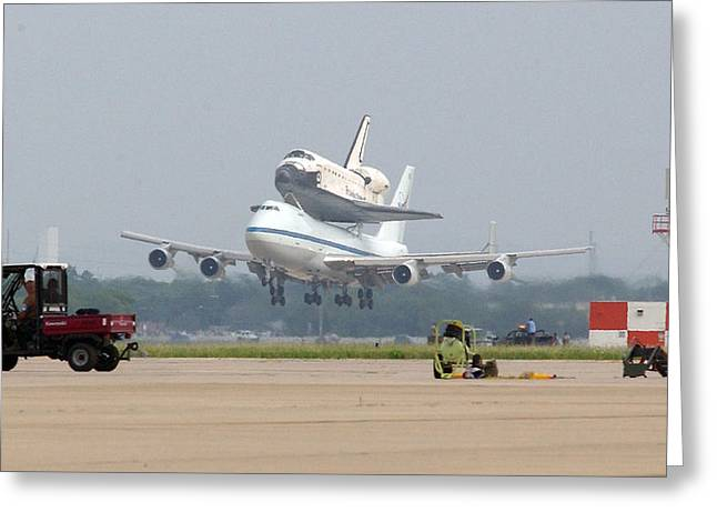 747 Carrying Space Shuttle Greeting Card