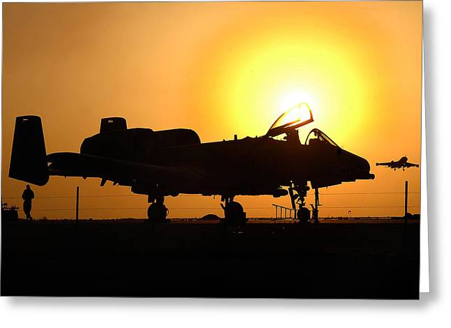 A-10 Thunderbolt II Greeting Card by Celestial Images