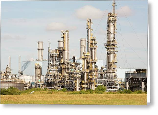 A Bp Chemical Plant At Salt End Greeting Card
