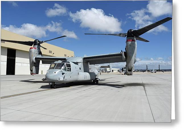 A U.s. Marine Corps Mv-22b Osprey Greeting Card by Riccardo Niccoli