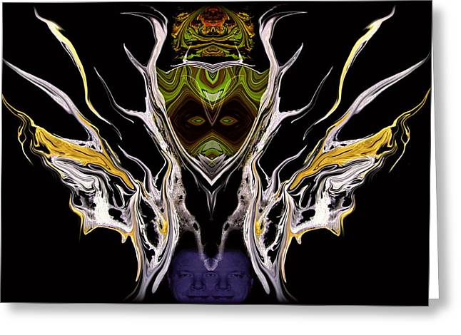 Abstract 94 Greeting Card by J D Owen