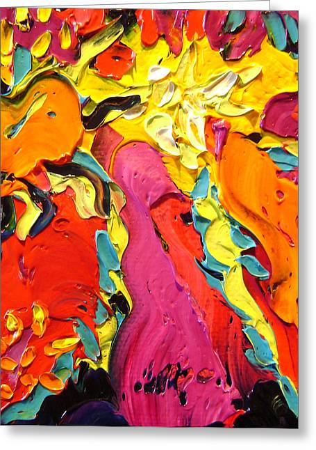 Greeting Card featuring the painting Abstract by Isabelle Gervais