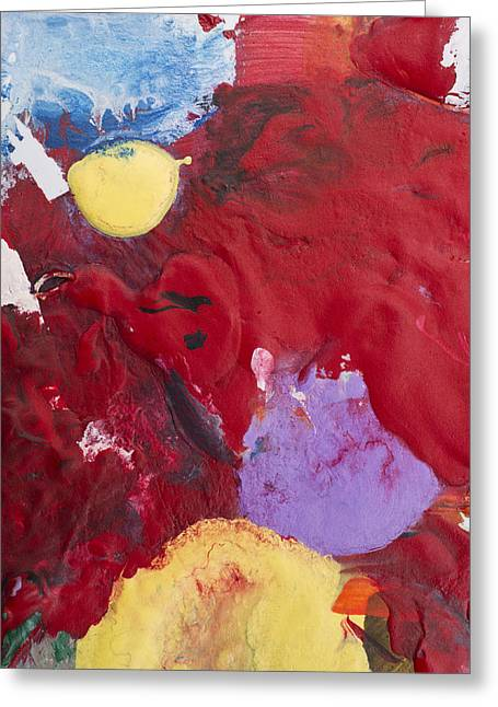 Acrylic Abstract Painting Greeting Card by Donald  Erickson
