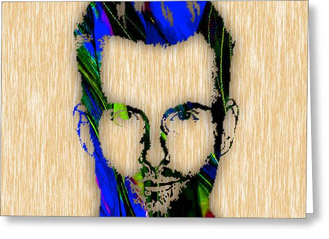 Adam Levine Greeting Card by Marvin Blaine