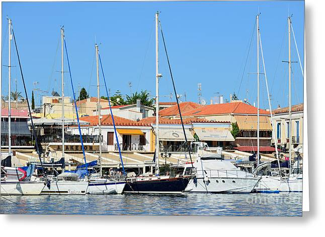 Aegina Port Greeting Card